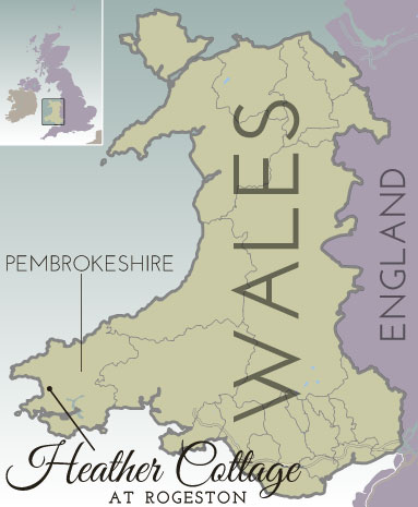 General location map of Pembrokeshire, Wales